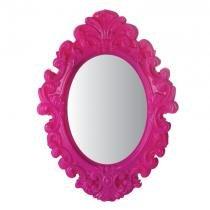 Espelho Oval Urban Rococó Provençal Rosa Urban Brasil -