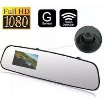 Espelho retrovisor camera filmadora veicular espia com visao noturna e detector de movimento full hd - Gimp