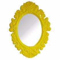 Espelho Urban Oval Rococó Provençal Amarelo Urban Brasil -
