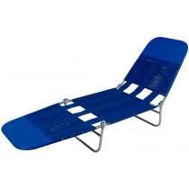 Espreguiçadeira dobrável 1,82 m azul - Mor