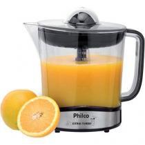 Espremedor de Frutas Philco Citrus Turbo Elétrico - Inox 85W 1,5L Automático Preto