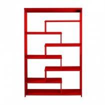 Estante 6 Prateleiras Escada Maxima Vermelho - Maxima