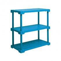 Estante cube com 3 prateleiras azul - Azul - Grifit