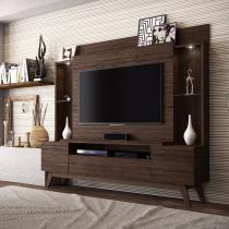 Estante Home para TV até 55 Polegadas 2 Portas Taurus Linea Brasil Flex Color Castanho/Wengue - Linea Brasil