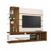 Estante Home para TV até 60 Polegadas com Espelho Vetro Dj Móveis Demolição/Branco Off White -