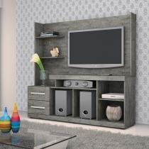 Estante Home Theater para TV até 42 Polegadas Drumond Valdemóveis Onix - Valdemóveis