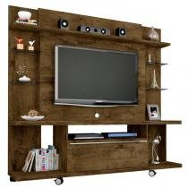 Estante Home Theater para TV até 55 Polegadas New Torino Madeira Rústica - Bechara -