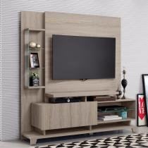 Estante para TV até 55 Polegadas com 2 Portas Luari Belaflex Carvalho Viena - Belaflex