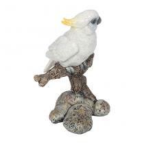 Estátua Pássaro Galho P Branco Greenway - Greenway