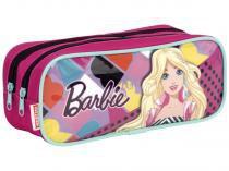 Estojo Escolar 2 Divisórias Barbie Zíper - Sestini