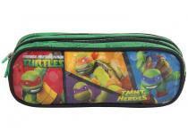 Estojo Escolar 2 Divisórias Teemage Mutant Ninja  - Turtles TMNT Ultimate Heroes Zíper Soft DMW