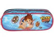 Estojo Escolar 2 Divisórias Yo-Kai Watch Zíper Soft DMW
