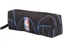 Estojo Escolar Preto e Azul com Zíper NBA - DMW