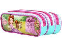 Estojo Escolar Triplo com Zíper Disney Princesa - Sofia Dermiwil