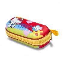 Estojo Infantil Escolar Hello Kitty Kids  Amarelo  MaxToy  Estojo Escolar - MaxToy
