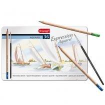 Estojo metálico de lápis de cor expression aquarel bruynzeel 36 cores - 7735m36 -
