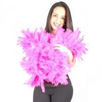 Estola Boá Grossa de Plumas - Pink - Aluá festas