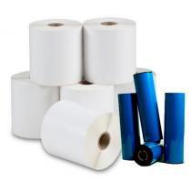 Etiqueta Adesiva 100x100 - Kit com 10 rolos e 4 Ribbons - Intelprint