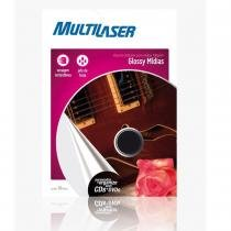 Etiqueta Brilhante para Mídias A4 10 Folhas 230g/m2 PE004 - Multilaser - Multilaser