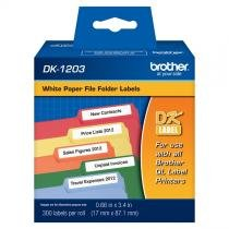 Etiqueta Brother DK-1203 P/ Arquivos de Pastas (300 Etiquetas de 17x87mm) -