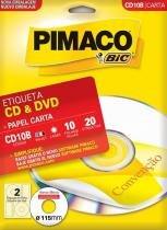Etiqueta Carta CD E DVD CD10B Pimaco -