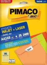 Etiqueta Inkjet/Laser A4 248 17x31 2400 Unidades Pimaco - 953010