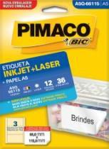 Etiqueta Inkjet/Laser A5 Q66115 66x115 36 Unidades Pimaco - 953010