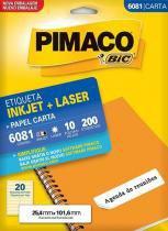 Etiqueta Inkjet/Laser Carta 6081 Pimaco -