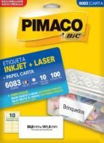 Etiqueta Inkjet/Laser Carta 6083 50,8x101,6 100 Unidades Pimaco - 953010