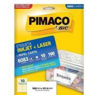 Etiqueta Inkjet/Laser Carta 6083 Pimaco -