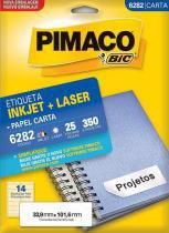 Etiqueta Inkjet/Laser Carta 6282 Pimaco -