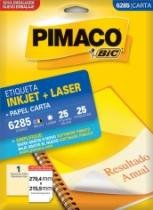 Etiqueta Inkjet/Laser Carta 6285 279,4x215,9 25 Unidades Pimaco - 953010