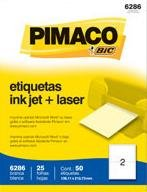 Etiqueta Inkjet/Laser Carta 6286 138,11x212,7 50 Unidades Pimaco - 1