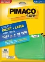 Etiqueta Inkjet/Laser Carta 6287 12,7x44,4 2000 Unidades Pimaco - 1