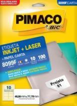 Etiqueta Inkjet/Laser Carta 8099f 46,56x77,79 100 Unidades Pimaco - 1