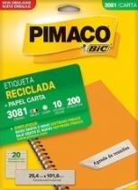Etiqueta Inkjet/Laser Reciclada Carta 140 Unidades 3082 Pimaco - 953010