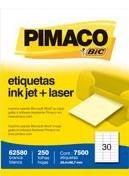 Etiqueta Laser Inkjet 62580 25,4x66 7500un Pimaco S/L - 953010