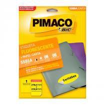 Etiqueta Pimaco InkJet+Laser Fluorescente Carta 5585A -