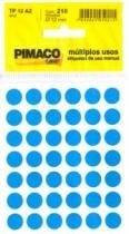 Etiqueta Tp 12 Redonda 210un Azul Pimaco Blister - 953010