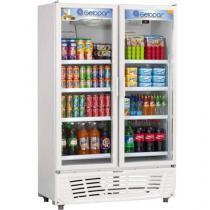 Expositor/Refrigerador Vertical 2 Portas 637L - Frost Free Gelopar GRVC-950BR