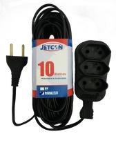 Extensão 10m paralelo 3 saída 2x0,75 jetcon - Jetcon