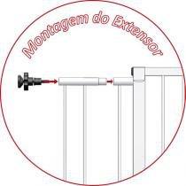 Extensor 10 cm para Portão Grade de Segurança Branco Multiforma MF1010 -