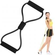 extensor elástico para exercícios ginástica CBR04256 preto - Adventure brasil