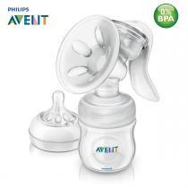 Extrator Manual de Tirar Leite Pétala AVENT com Bico de Mamadeira Recém-Nascido 0m+ BPA FREE -
