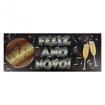 Faixa Feliz Ano Novo - Réveillon Paper Fest - Festabox