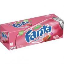Fanta fruit punch morango com melancia 12 unid 355ml -