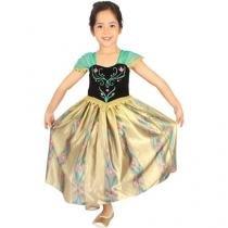 Fantasia Infantil Disney Frozen Anna Baile Luxo - P Rubies
