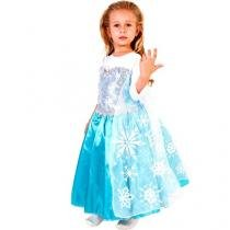 Fantasia Infantil Disney Frozen Elsa Luxo - M Rubies
