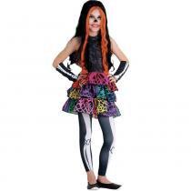 Fantasia Luxo Monster High Skelita - G - Sulamericana