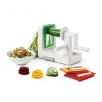 Fatiador espiral para legumes com 3 lâminas em aço inox OXO -
